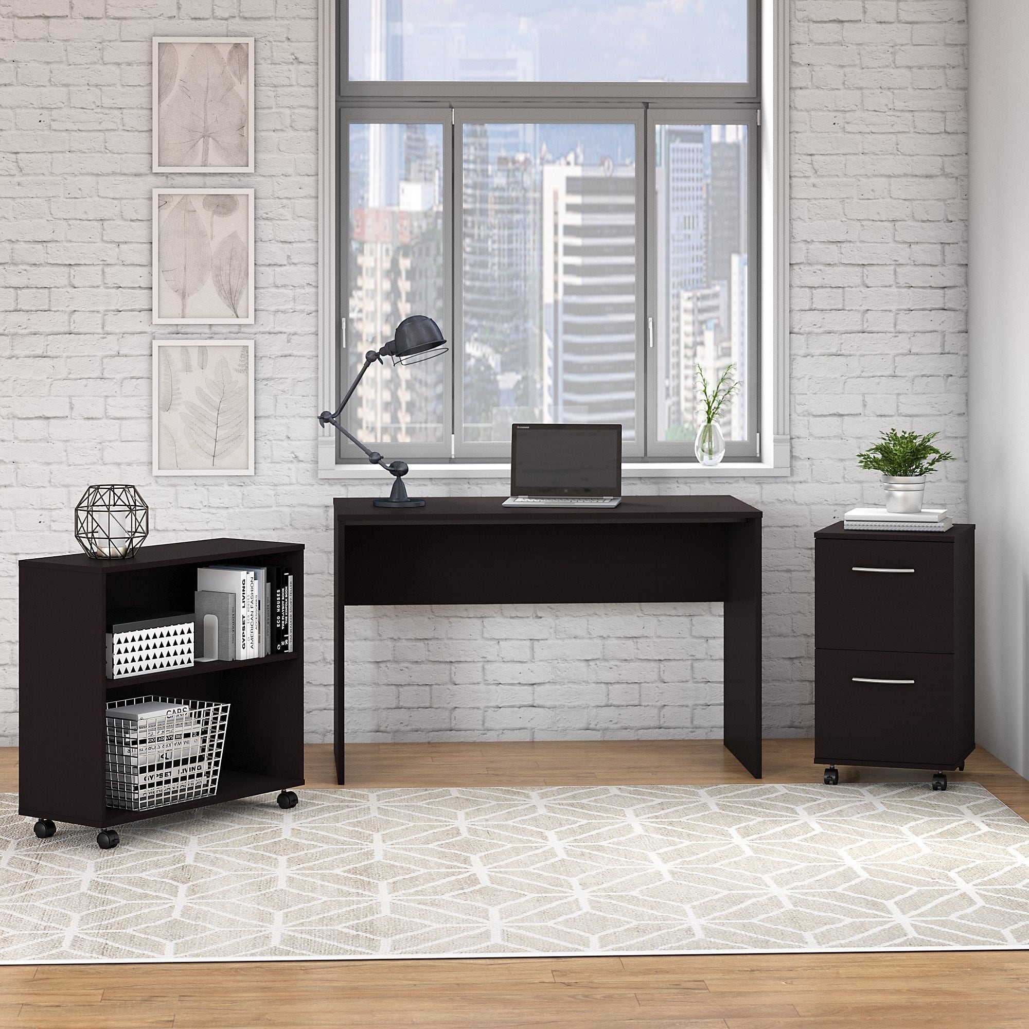 Fabulous Office Complete Small Desk With File Cabinet And Bookcase In Download Free Architecture Designs Pendunizatbritishbridgeorg