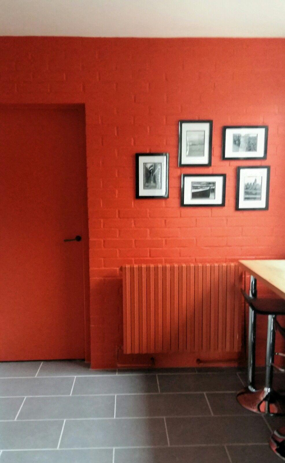 Pep S Dans La Cuisine Painted Brick Walls Painted Brick Wall