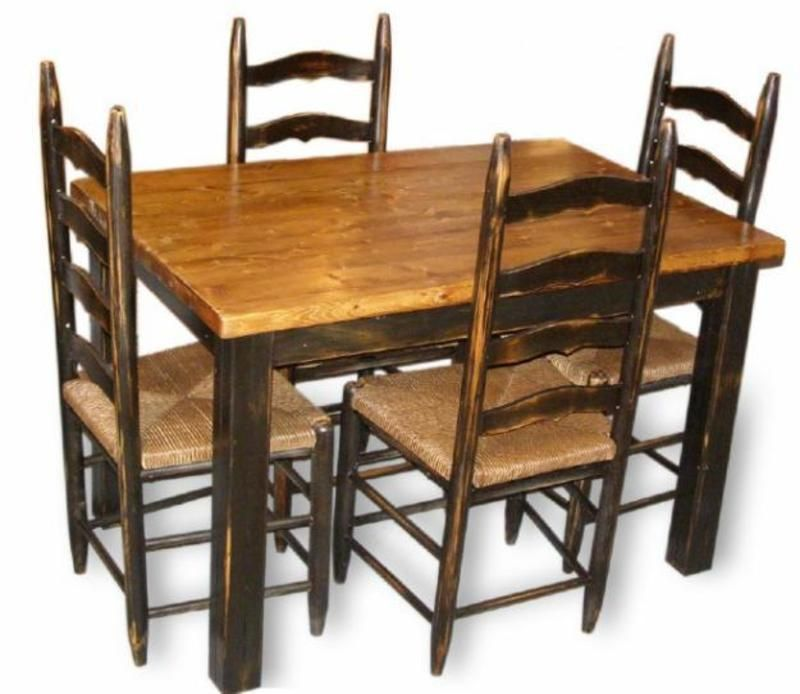 Our Primitive Farmhouse Table Chairs Will Bring Country Charm To Your Dining Area The And Have A Pronounced Distressing That
