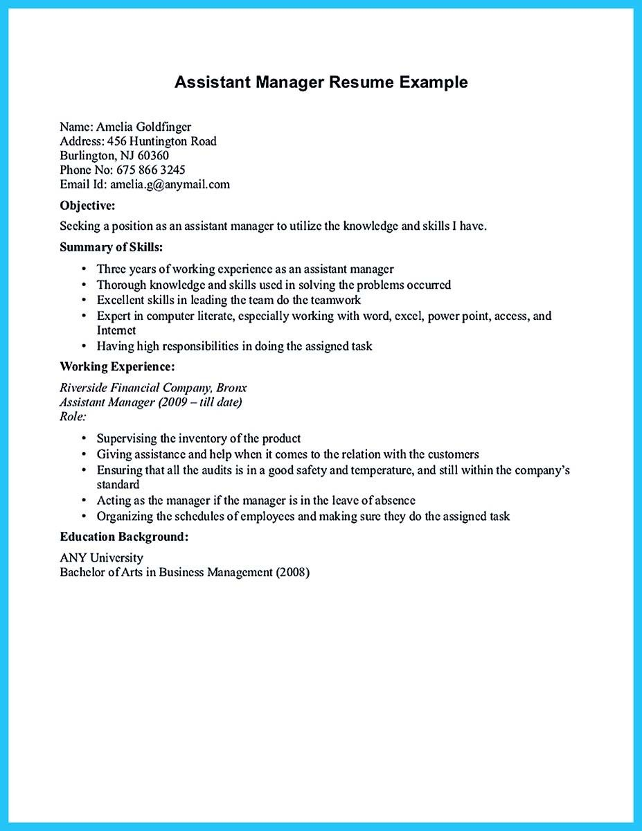 Retail Assistant Manager Resume Nice Store Assistant Manager Resume That Can Bag You  Resume