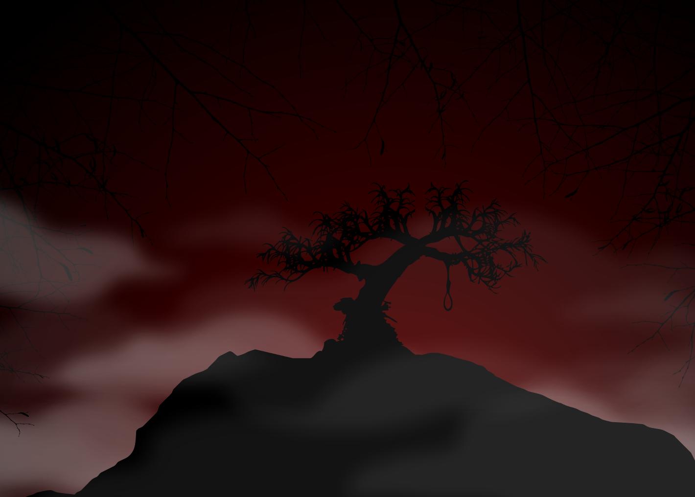 Download this animated free halloween powerpoint template with a download this animated free halloween powerpoint template with a hanging tree at night toneelgroepblik Images