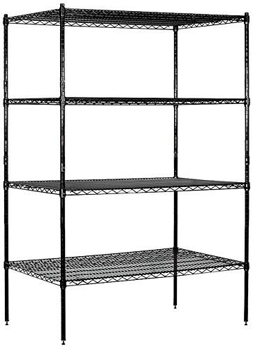 Salsbury Industries Stationary Wire Shelving Unit 48inch Wide By 74inch High 24inch Deep Black Want To Know More Click On The Image This