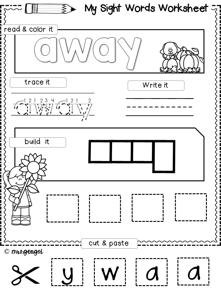 Sight Words Pre Kindergarten 40 Words Sight Words Kindergarten Reading Activities Sight Word Activities