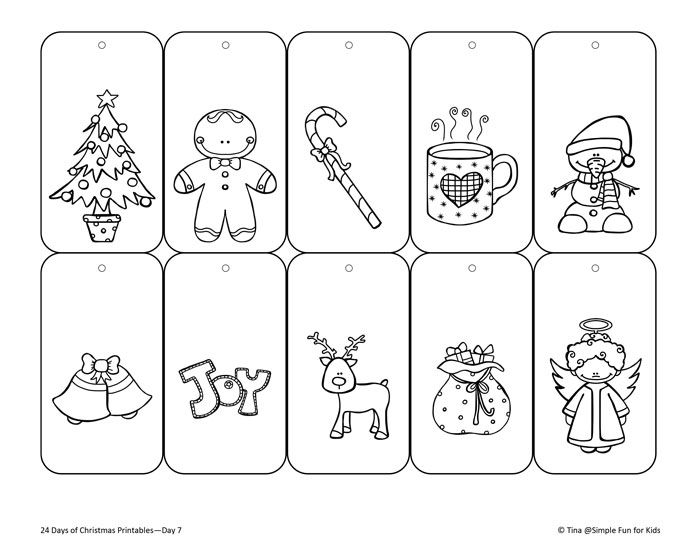 Christmas Countdown Day 7 Color Your Own Printable Christmas Gift