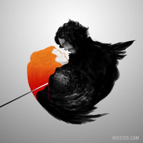 Jon Snow and Ygritte Fan Art by Wei Jerry Chen