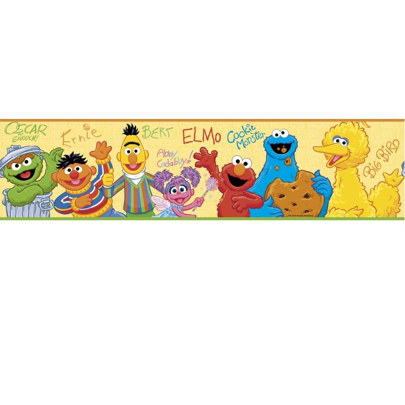 Sesame Street Wall Sticker Border