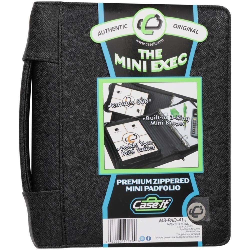 CaseIt The Mini Executive Zippered Padfolio Holds Mini