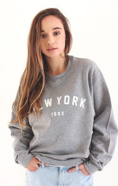 e6df1f6c New York 199x Oversized Sweatshirt - Grey | Fashion | Grey ...