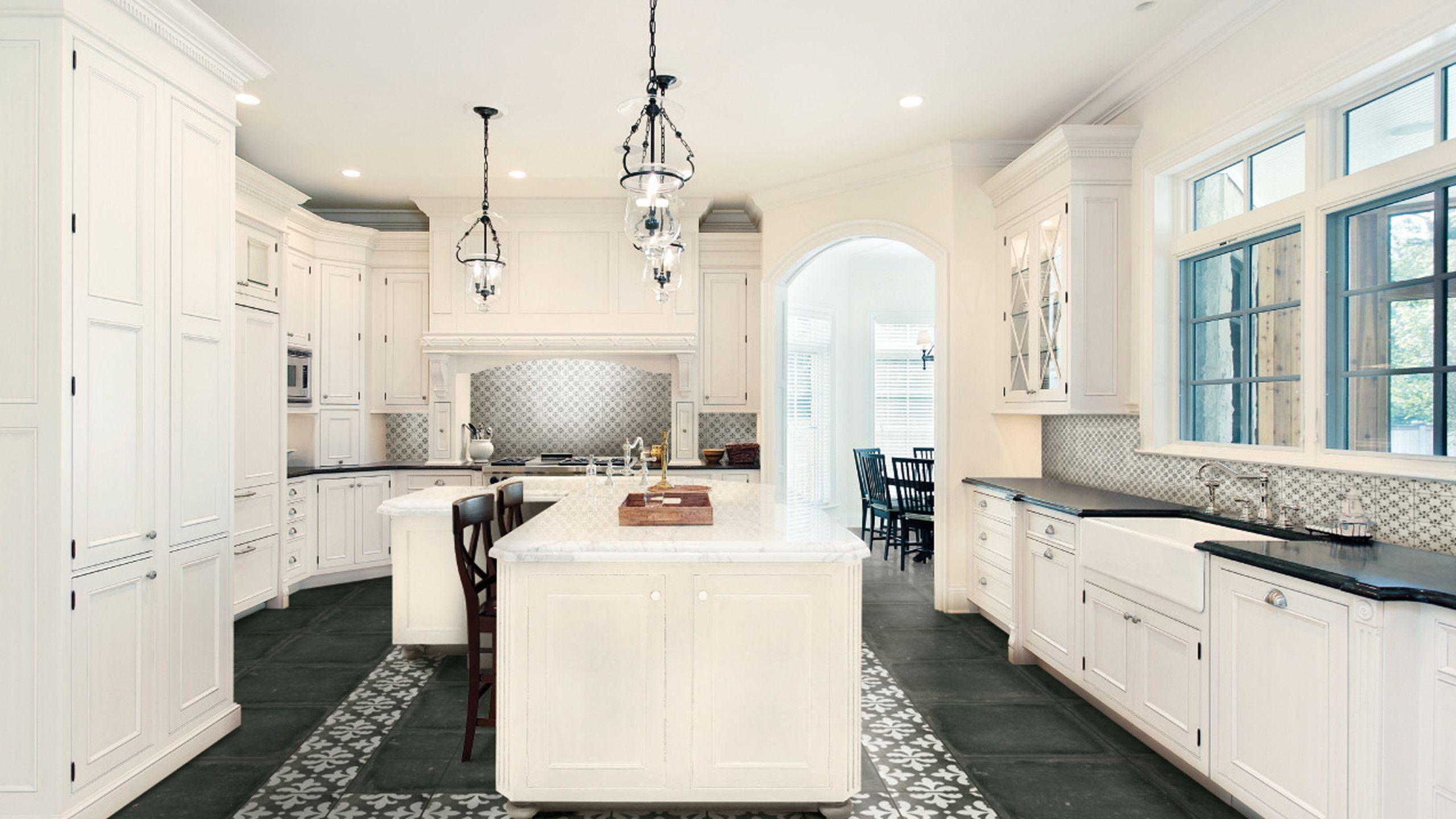 Palazzo 12 X 12 Decorative Tile In Castle Graphite Florentina Kitchen Remodel Kitchen Design Decor