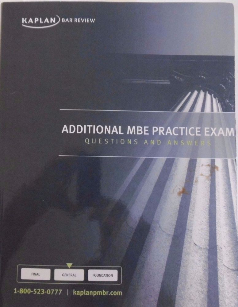 KAPLAN MBE SUBJECTS OUTLINE MATERIALS 2014 KAPLAN BAR REVIEW