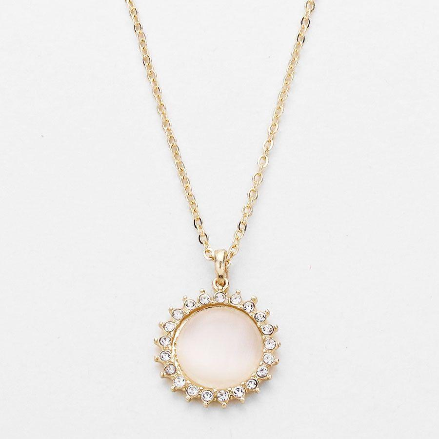 Gold Soleil Sun Goddess Pendant Necklace