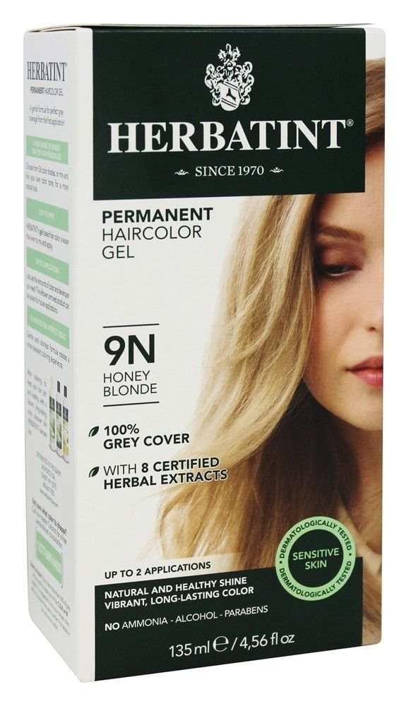 Herbatint - Herbal Haircolor Permanent Gel 9N Honey Blonde - 4.5 fl. oz. #lightashblonde