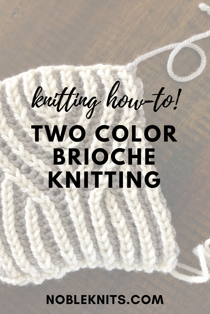 Brioche Week, Day 2: 2-color brioche worked flat | Nerdy Knitting ...