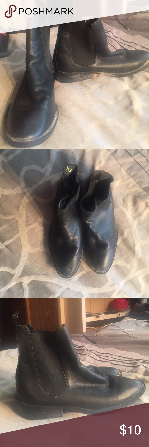 Black riding boots Black ankle riding boots. Size 9. Used for horseback riding for one semester. Good condition. Make an offer! Shoes Ankle Boots & Booties