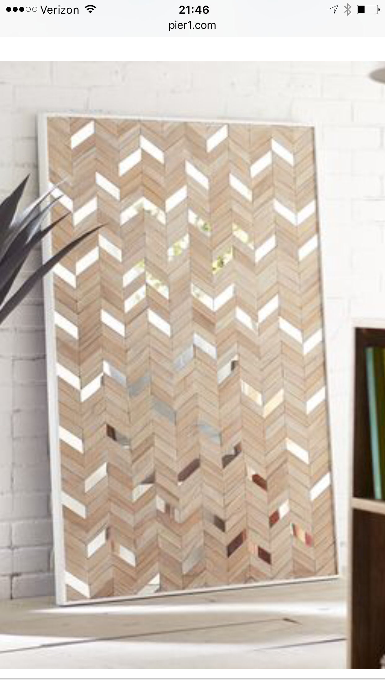 Want To Make A Diy Version Of This Mirror Panel Wall Wall Paneling Chevron Wall