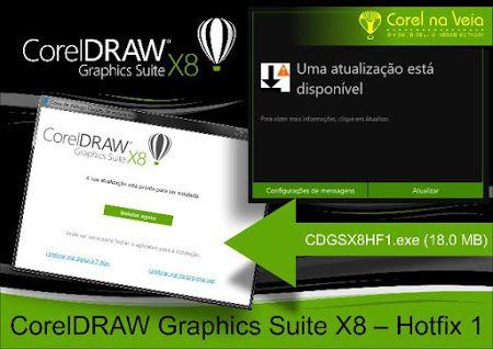 CorelDRAW Graphics Suite X8 – Hotfix 1 Deixa tudo mais rápido!