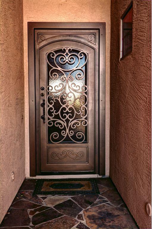 Puertas De Herreria Sencillas Y Bonitas Iron Doors Iron Entry Doors Wrought Iron Doors