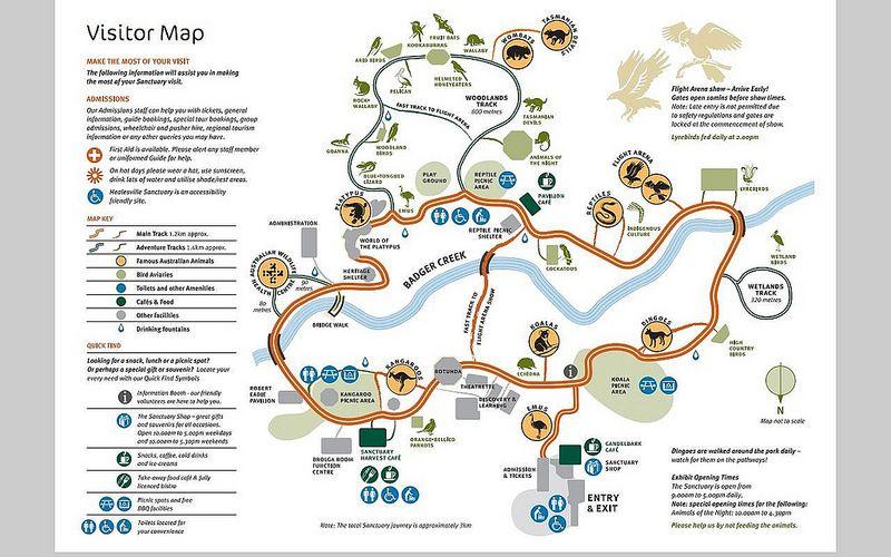 Map of Healesville Sanctuary 2014