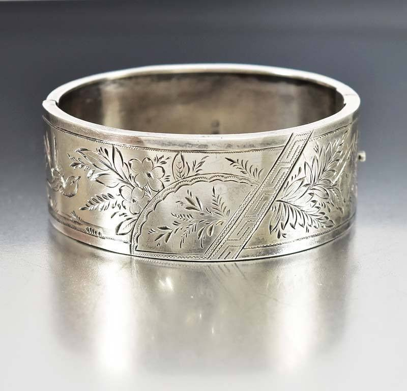Sterling Silver Oval Bangle Made With Real Forget Me Nots bhx2FUUbGV
