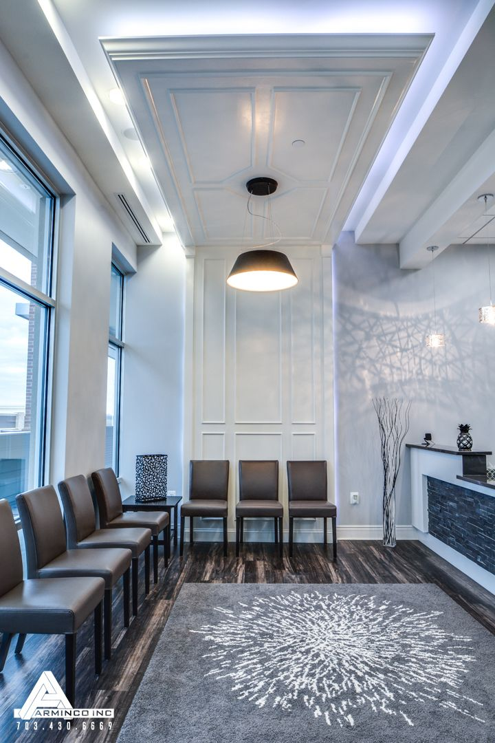 Paneled drop down ceilings dental office design by for Medical office design
