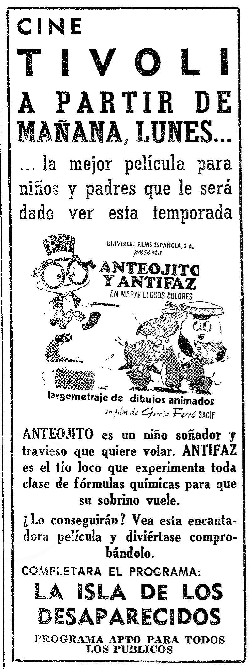 1972 - MIL INTENTOS Y UN INVENTO - Manuel García Ferré - (ABC, Domingo 30 de Septiembre de 1973, Madrid, España)