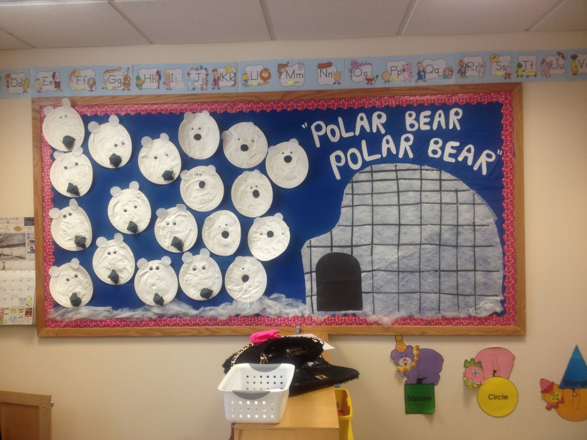 Winter Bulletin Board After Reading The Book Polar Bear