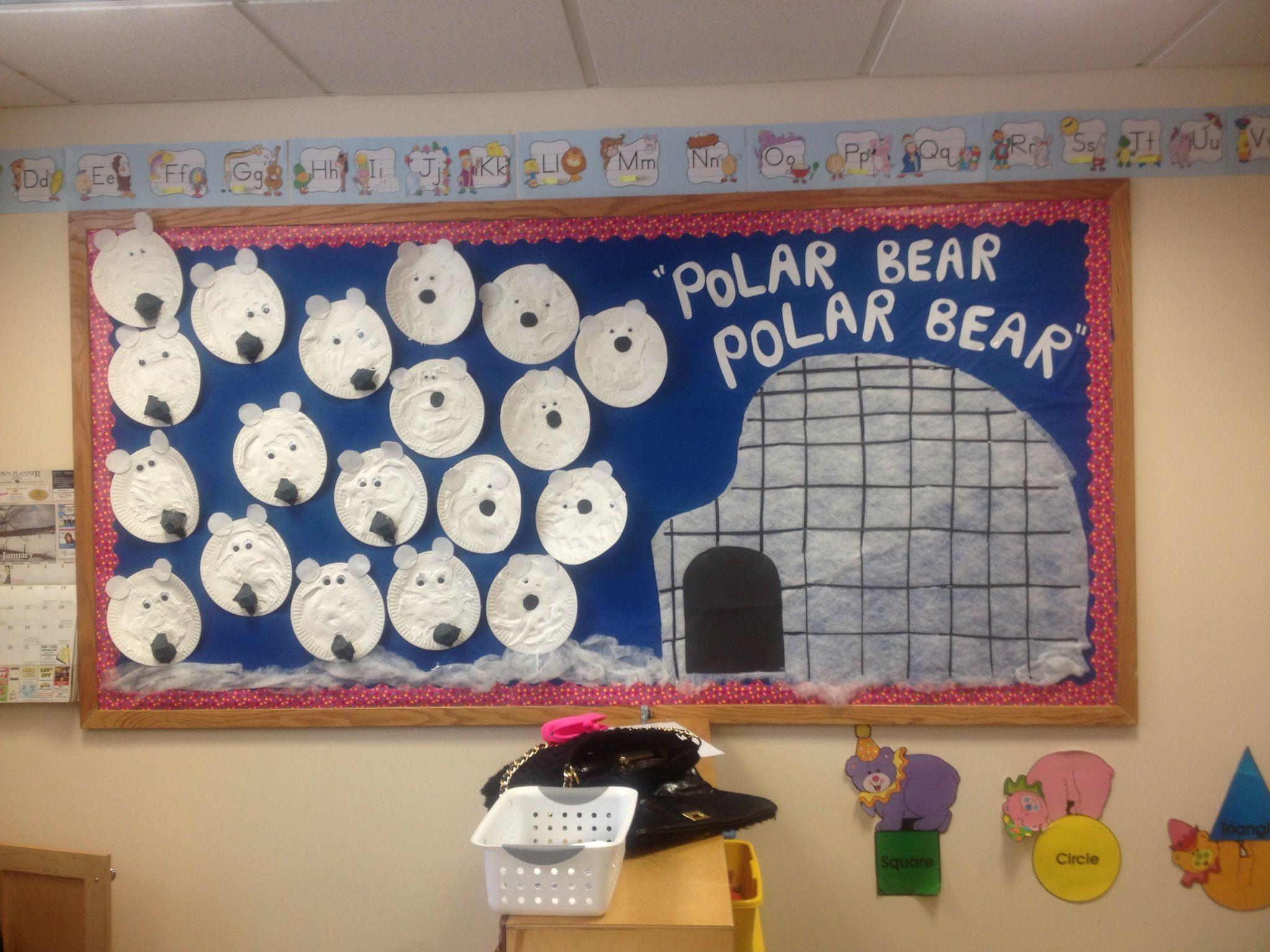Winter Bulletin Board After Reading The Book Polar Bear