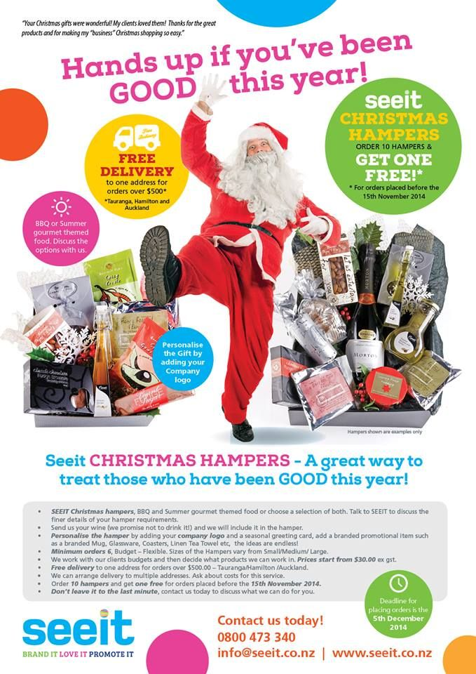 christmas hampers promotional flyers designed by coxdesignnz