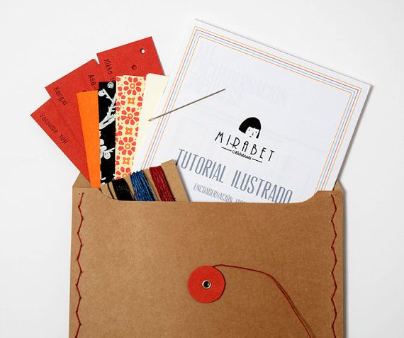 Bookbinding kit on etsy book arts pinterest japanese books bookbinding kit on etsy solutioingenieria Choice Image
