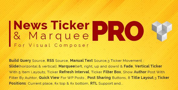 Download Pro News Ticker & Marquee for Visual Composer v1 1