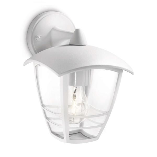 White Outdoor Lights Delectable Philips 153813116 Creek White Outdoor Down Lantern Wall Light Decorating Inspiration