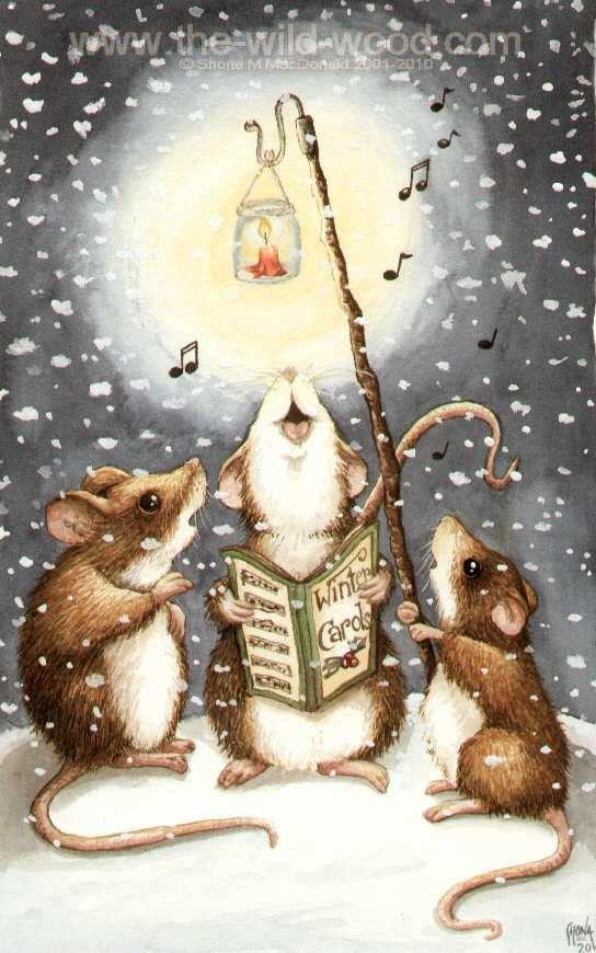Carolling Mice by WildWoodArtsCo.deviantart.com on @DeviantArt