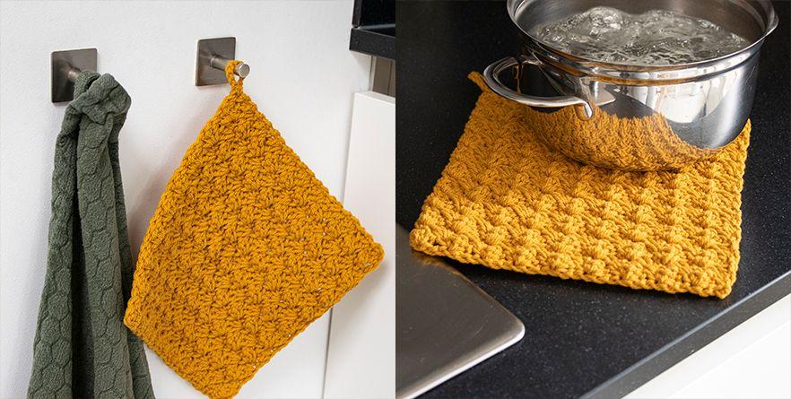 Maniques en crochet – motif gratuit en macramé durable   – crochet_House, Home & Garden