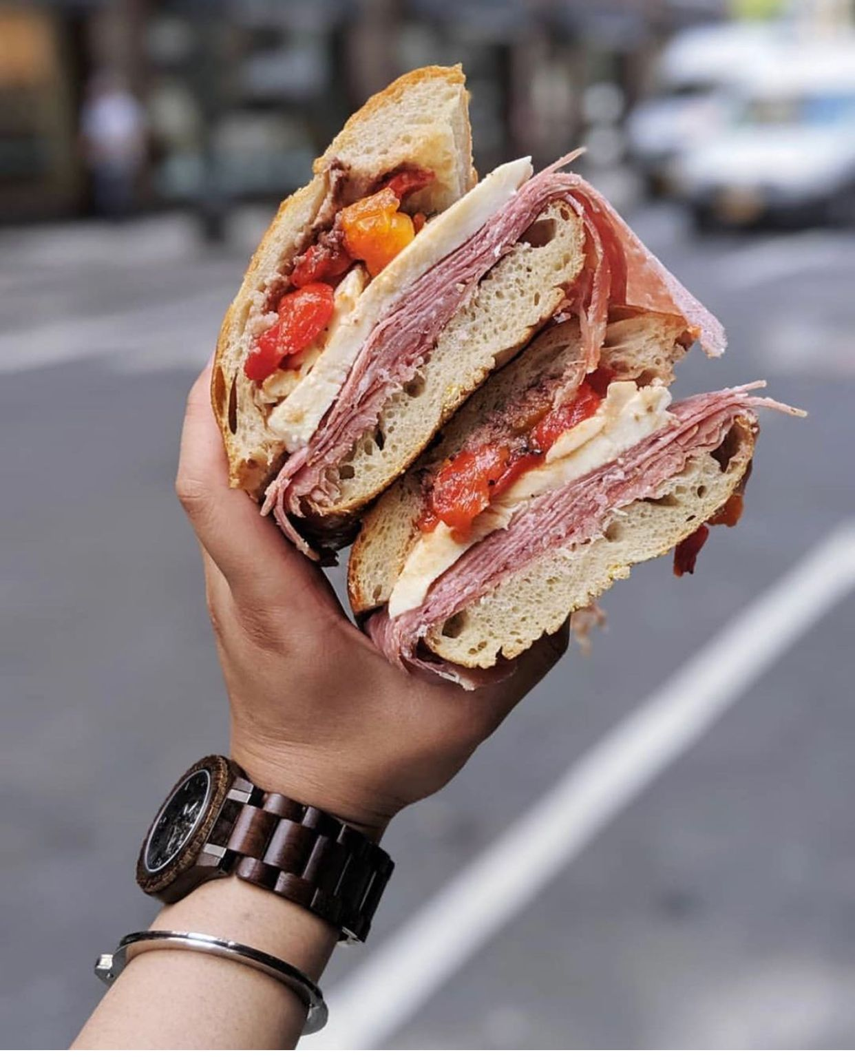 Italian specialty sandwich with images specialty