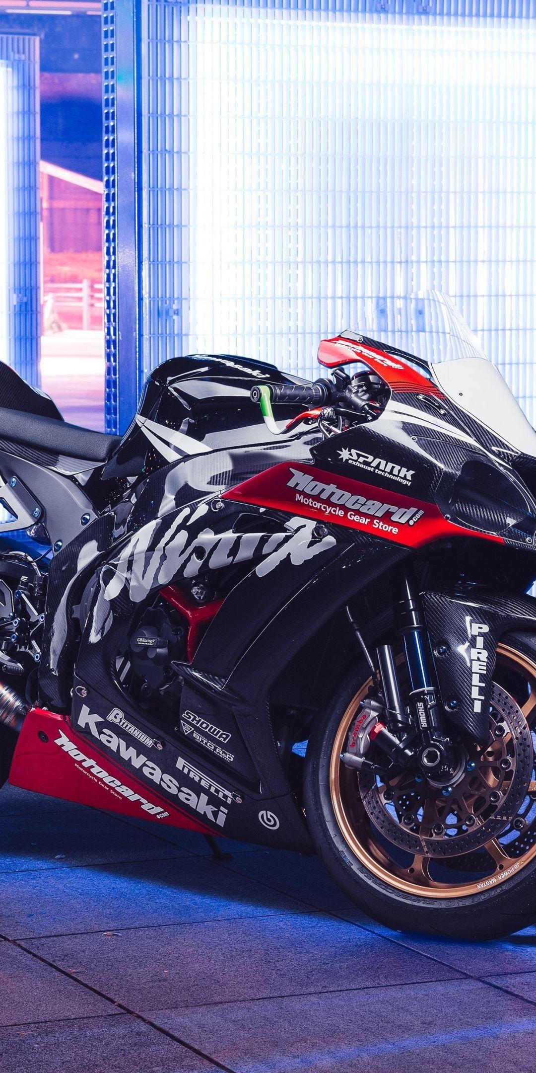 Kawasaki Ninja Zx 10r Sports Bike 2019 1080x2160 Wallpaper Sport Bikes Kawasaki Bikes Sports Bikes Motorcycles