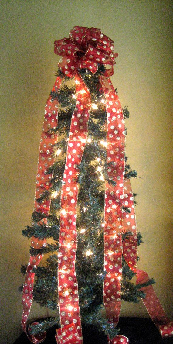 christmas tree topper redgold christmas by weddingsandwreaths