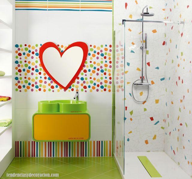 20 formas de decorar baños infantiles divertidos ideas Pinterest
