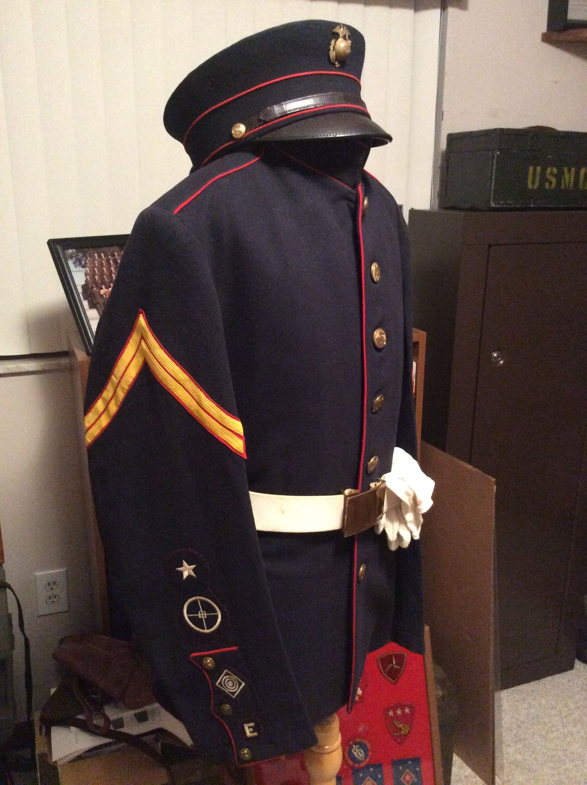 World War One Marine Corps Dress Blue Uniform Ratings On The Right