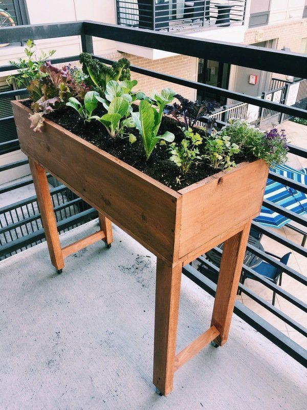 Standing Rolling Raised Planter Box On Wheels Garden Planter Boxes Raised Planter Boxes Raised Planter