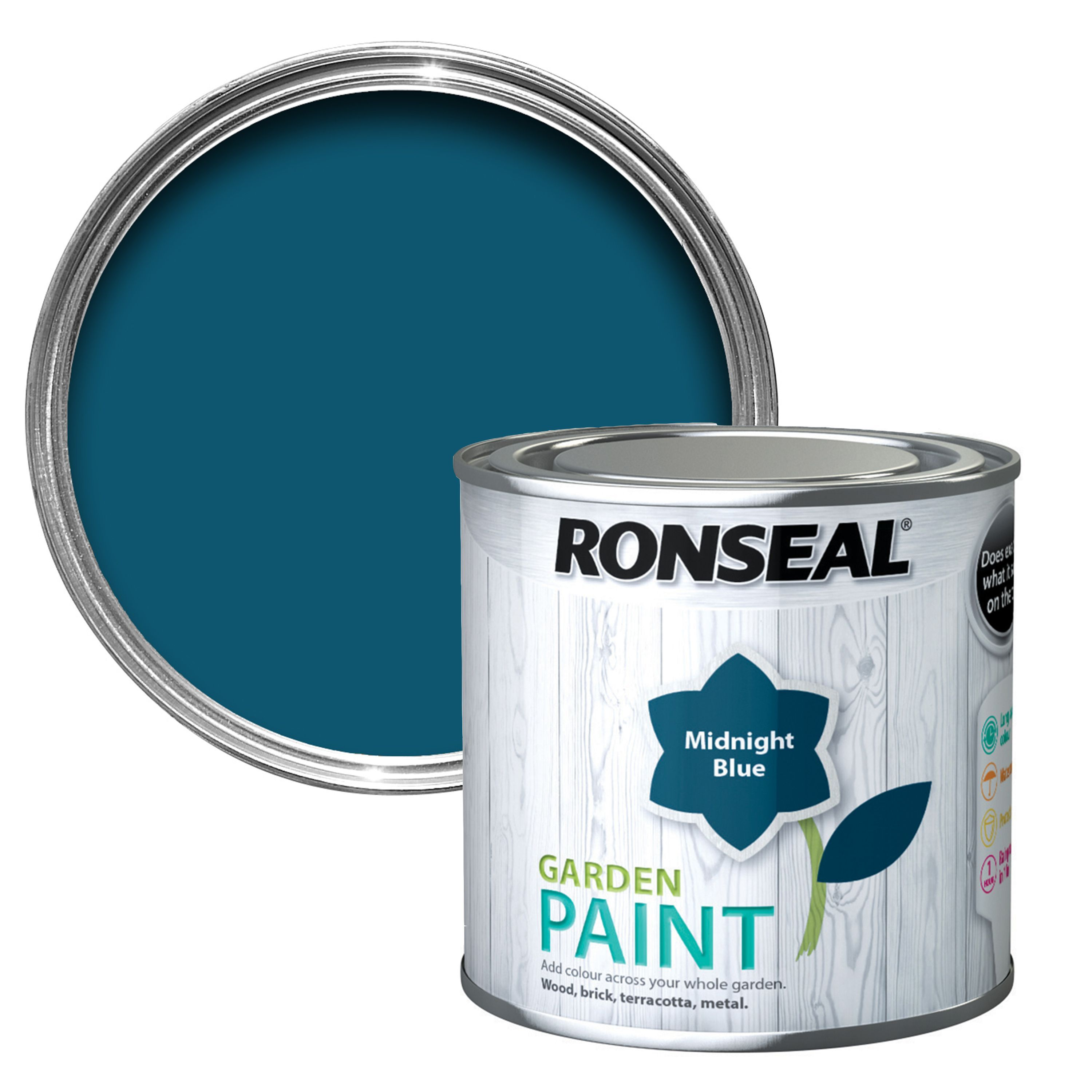 Ronseal chalky furniture paint ronseal - Ronseal Midnight Blue Garden Paint 250ml Departments Diy At B Q