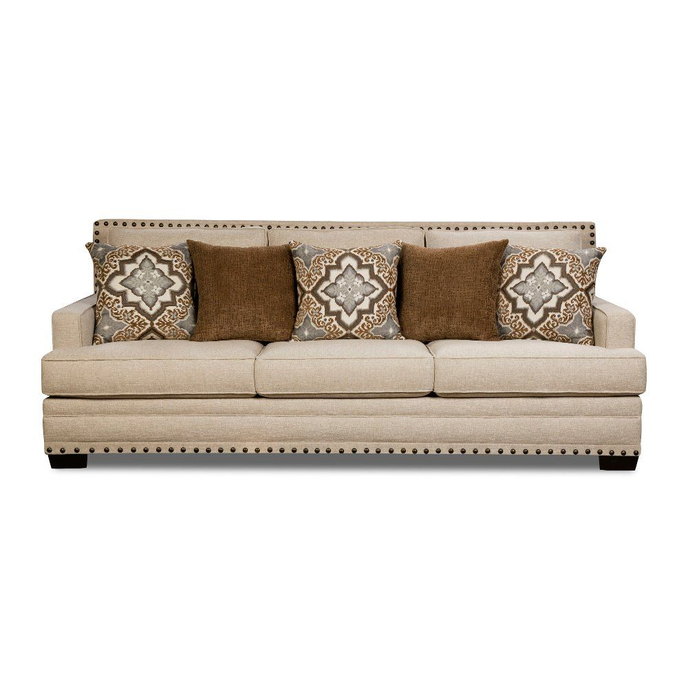 Casual Traditional White Linen Sofa Anna Rc Willey Furniture Store White Linen Sofa Linen Sofa Best Leather Sofa [ 1000 x 1000 Pixel ]