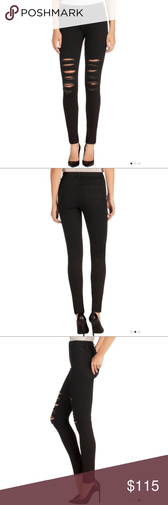 80d188e57f95 J Brand Maria Black High-Rise Super Skinny Jeans