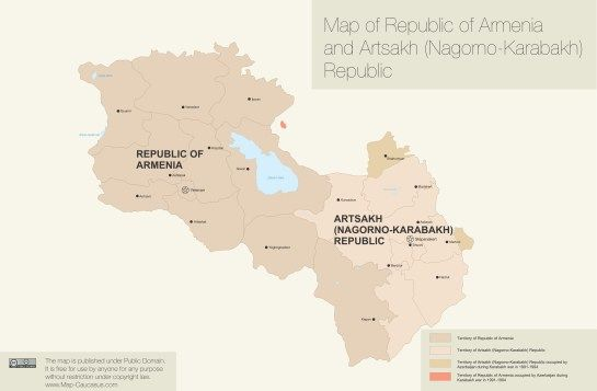 El primer ministro de Turquía, Ahmet Davutoglu dijo que su gobierno abrirá la frontera sellada con Armenia a condición de que Armenia ceda al menos una de las varias regiones que rodea Nagorno-Karabaj a Azerbaiyán.