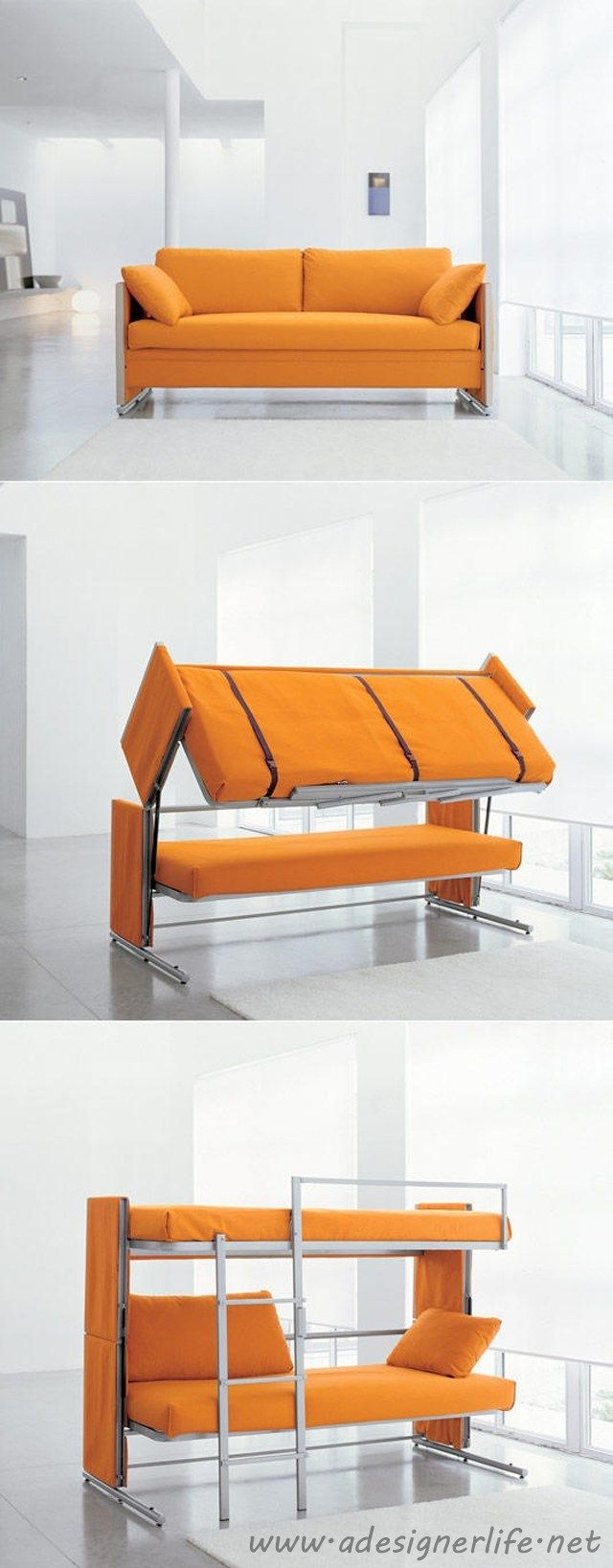 Convertible couch bunk bed - Awesome Products The Most Amazing Convertible Furniture Ever Bunk Bedssofa