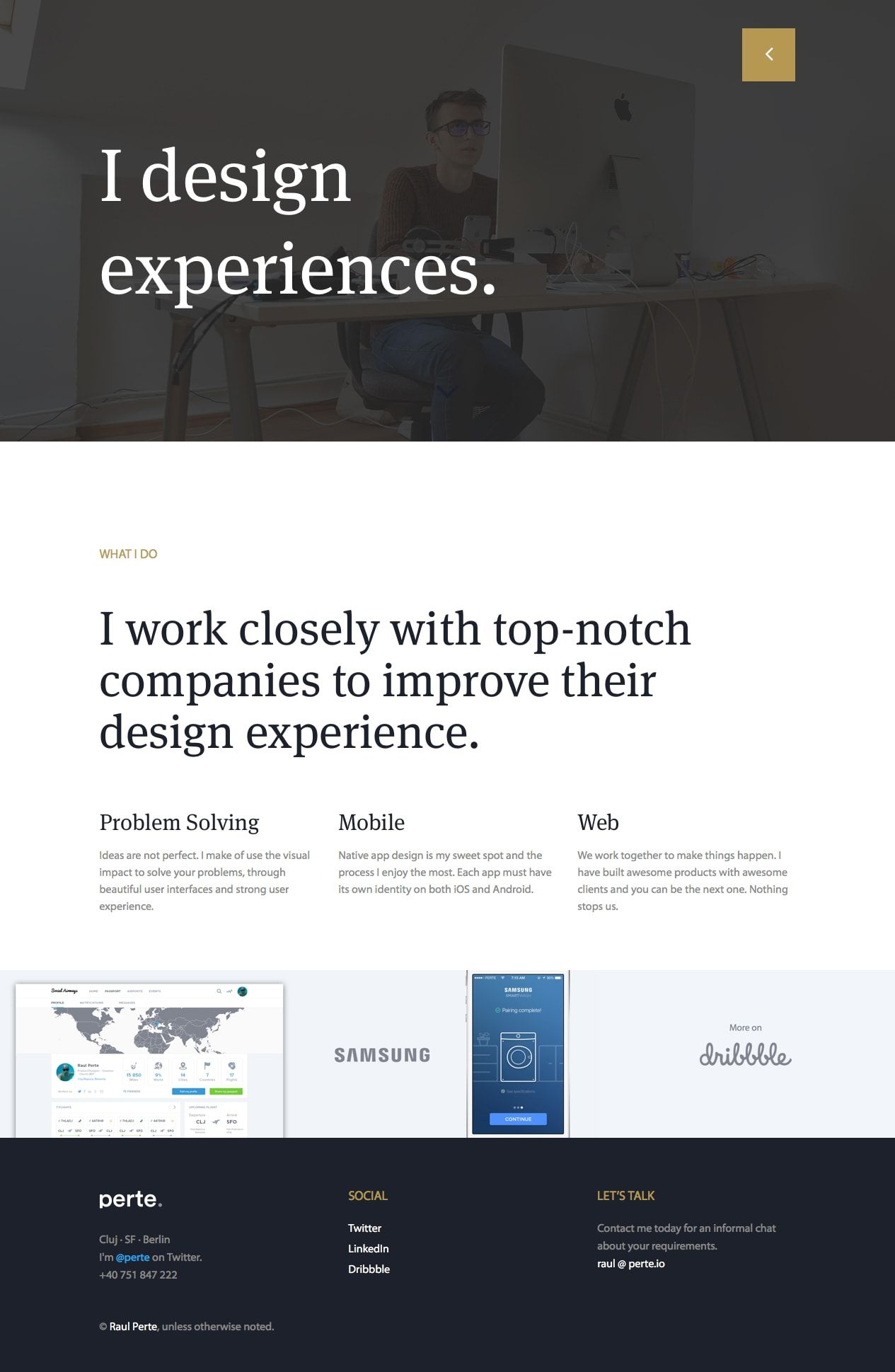 Raul Perțe I Design Experiences