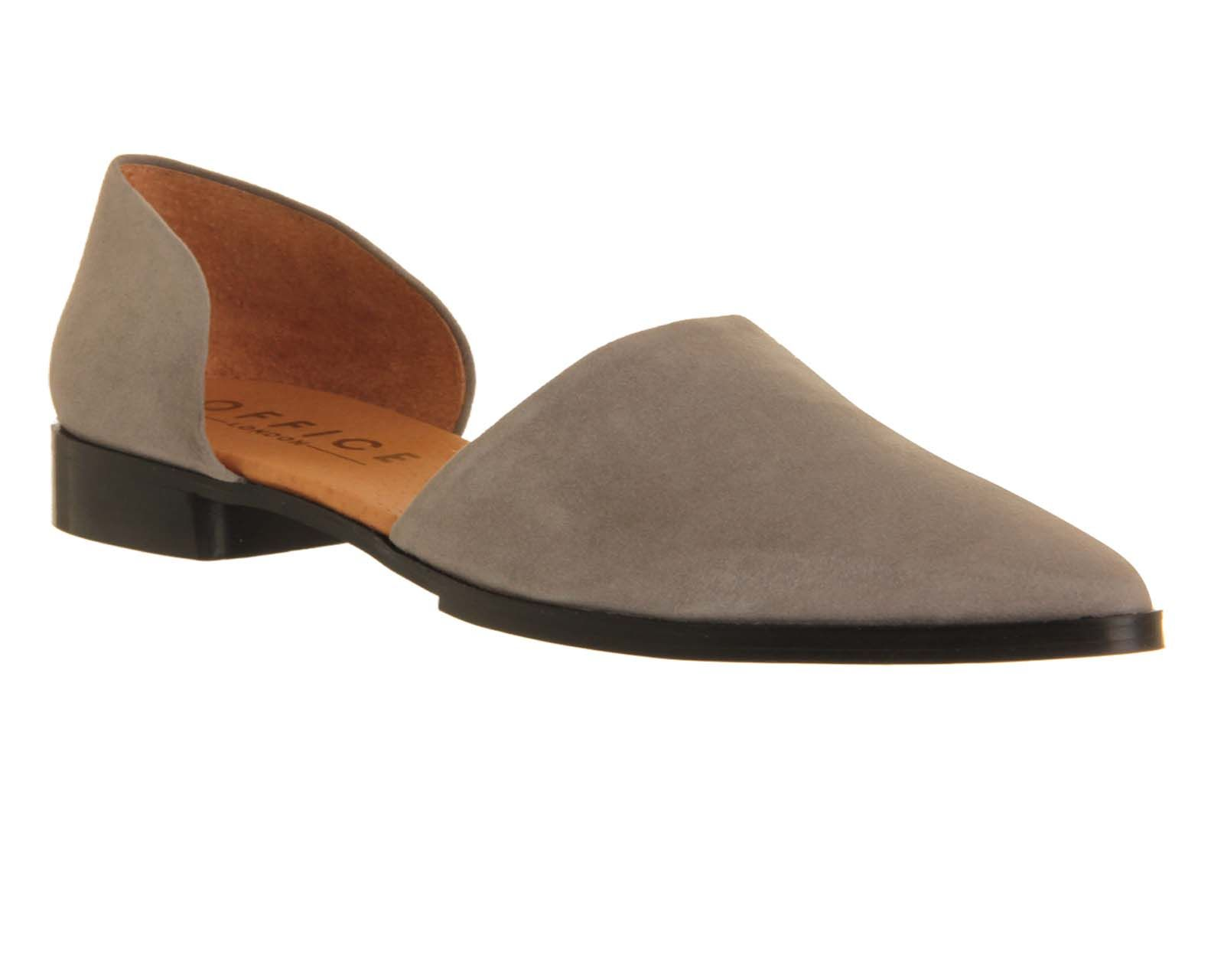 Office Kandy Point Two Part Grey Suede - Flats