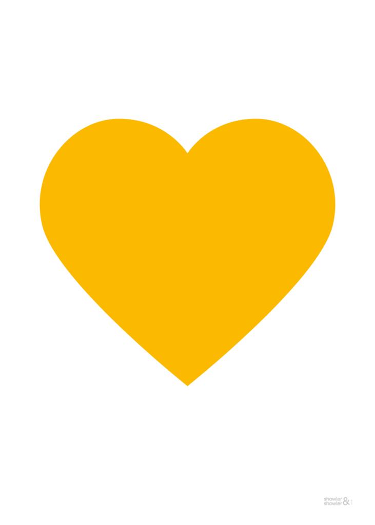 Love Heart Print In Yellow Heart Art Print Heart Art Art Prints