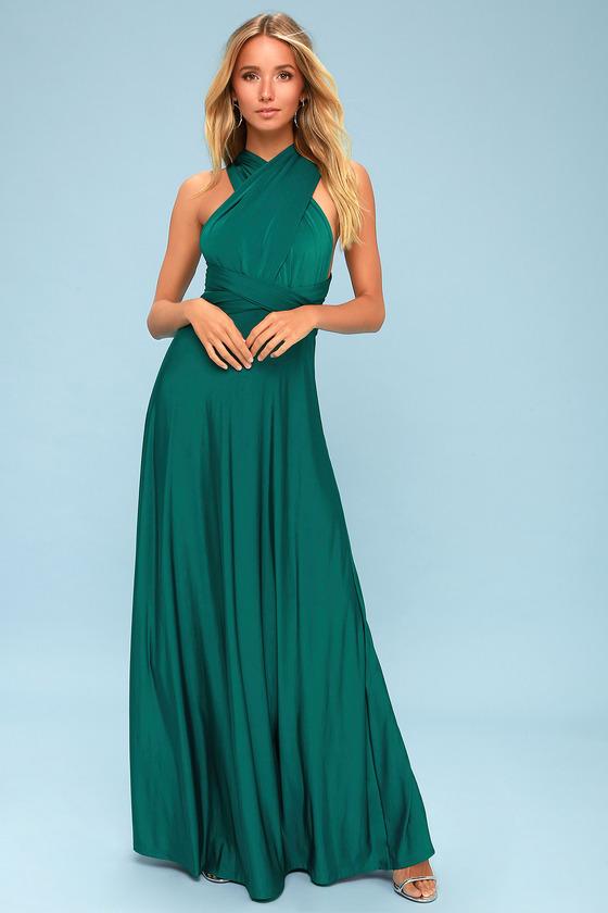 6a9b074ec3 Always Stunning Convertible Forest Green Maxi Dress 6