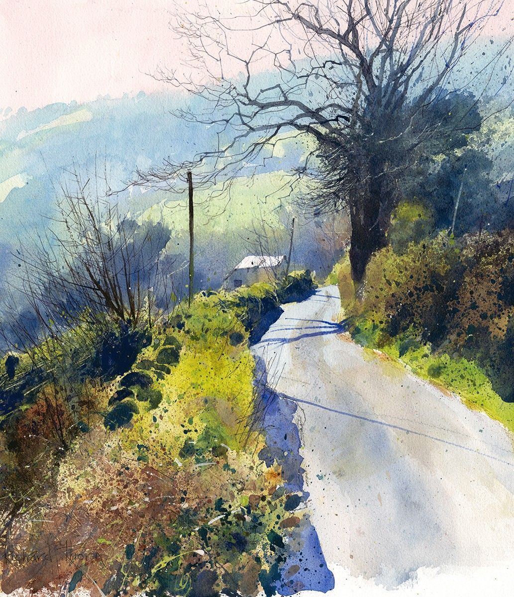 Down In Misty Vale Richard Thorn Watercolorarts Watercolor