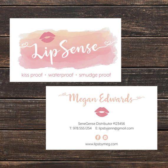 LipSense Business Card- LipSense Business Cards, Custom LipSense - lipsense business card